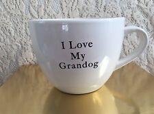 I Love My Grand Dog Large Coffee Mug Pets Funny Grandma Grandpa Spoiled Fur Baby