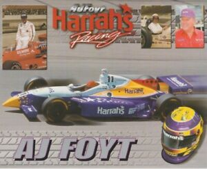 1999 A.J. Foyt Harrah's Oldsmobile Dallara Indy Car Hero Card
