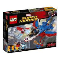 LEGO Marvel Super Heroes 76076: Captain America Jet Pursuit - Brand New