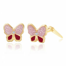 Enamel Stud Round Costume Earrings