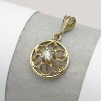 Antique Victorian Edwardian 10k Gold Diamond Miniature Lavaliere Pendant