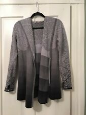 Athleta Size XS  Womens Zippered Hooded Sweater/Ombré Gray Cotton Wool Blend