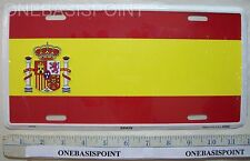 Spain Flag License Plate Aluminum Spanish Europe Embossed Sign Car Tag Auto New