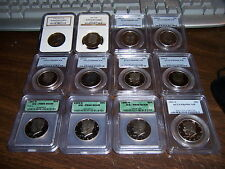 ICG OR PCGS OR NGC OR ANACS GRADED COINS-MIXED BOX -ESTATE BUY-1 BUY=5 SLABS