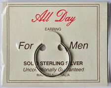 STERLING SILVER SINGLE 20mm SLEEPER SOLID HINGED SLEEPER FOR EAR OR OTHER PARTS