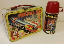 1964 Fireball XL5 Metal Lunch Box With Original Matching Thermos Vintage Antique