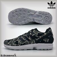 👟 Adidas Originals ZX Flux Camo Trainers UK Size 3 4 5 6 6.5 Boys Girls Ladies