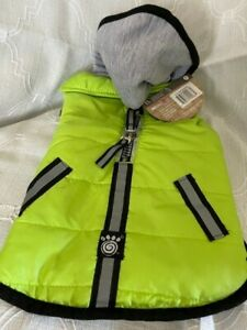 PetRageous 10400GS Stowe Puffer, Green, Small,100% Polyester; Poly-filled fleec