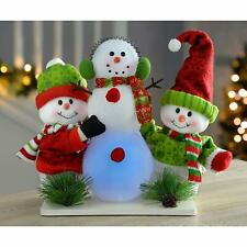Decorazioni del pupazzo di neve in legno per albero di Natale
