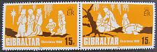 GIBRALTAR 1980: CHRISTMAS: PAIR / SET OF 2 MNH STAMP