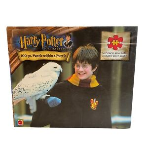 Harry Potter And The Sorcerer's Stone 100 Piece Puzzle Hedwig 2001 Mattel NEW