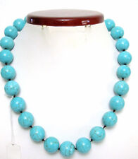 """Turquoise Beads Necklace  Toggle Closure Natural Stones 18"""" Long NEW"""