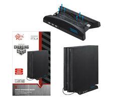 Playstation 4 vertikal USB HUB Ladestation Kühler Ständer Standfuß für PS4 Pro