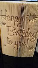 Happy Birthday. Cut And Fold Book Folding Pattern. 451 Pages #2511