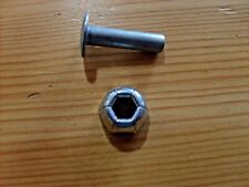PRESSED STEEL TOYS -  I INCH REPLACEMENT HITCH PIN & NUT FOR TONKA TOY