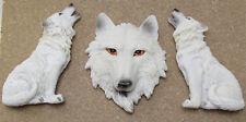 STW 1271 Magnete Wolf 3er Set Wolfskopf Wolf sitzend