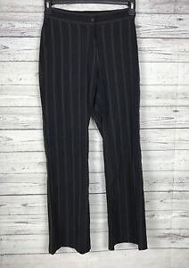 EP Pro Women's Black Golden Tan Pinstriped Golf Pants Size 2
