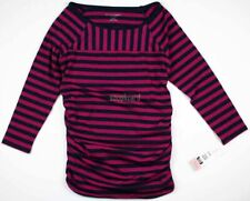 New NWT Women's Maternity Clothes Navy Top 3/4 Sleeve Shirt Liz Lange Size XS