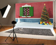 Photography Backdrops Christmas Tree Snowman Photo Props Background Vinyl 7x5Ft