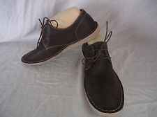 "JULIUS MARLOW Mens Shoes Size 8 LEATHER ""VALLEY"" Brown Lace Up 4 hole NEW #4234"