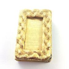 Vintage Braided Match Box Holder Brushed Gold Tone Frame w/matches