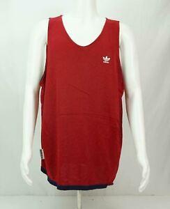 Vintage Adidas Trefoil Practice Basketball Jersey Men's Reversible Red Blue 2XT