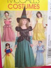 McCalls Sewing Pattern 5494 Child Girls Witch Princess Costume Size 3-6 Uncut