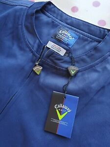 BNWT Callaway Navy Blue Softshell Golf Golfing Jacket Windcheater / Showerproof