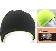 Men's Hi Vis Hat Reversible Thermal Fleece Beanie High Visibility Black/Yellow