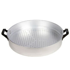 New listing Round Aluminum Strainer with 2 Handles, 15.75x 3 in, 10 qt
