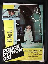 LOCANDINA CINEMA - POLICE PYTHON 357 - YVES MONTAND - 1975 - POLIZIESCO - 01