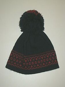 VINTAGE 70s 80s ANDRES NAVY RED NORDIC 100% WOOL SKI BEANIE HAT MENS WOMENS OS