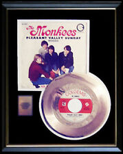 THE MONKEES PLEASANT VALLEY SUNDAY 45 RPM GOLD METALIZED RECORD RARE NON RIAA