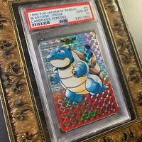 Pokemon PSA 10 - Blastoise #9 Prism 1996 Carddass Bandai Japanese GEM-MT 10