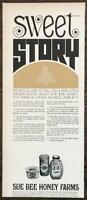 1965 Sue Bee Honey Print Ad Sweet Story Sioux Honey Assoc Sioux City Iowa