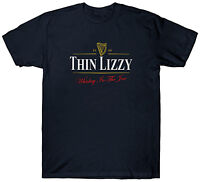 THIN LIZZY GUINNESS T SHIRT FUNNY RETRO VINTAGE TOP