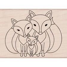 Hero Arts Mounted Rubber Stamp 3.25 inch X2.38 inch Fox Family