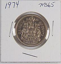 1974  -  Canada - 50 Cent Uncirculated Half Dollar MS65 - Stunning Coin