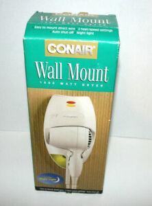 CONAIR Wall Mount 1600 Watt Hair Dryer Easy Direct Wire 2 Model 136