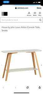 John lewis console table Anton table John lewis grey console table grey & oak