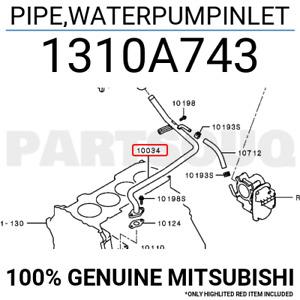 1310A743 Genuine Mitsubishi PIPE,WATERPUMPINLET