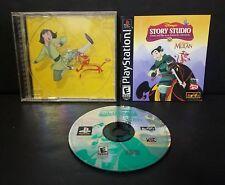 Disney's Story Studio: Mulan (Sony PlayStation 1, 1999) PS1 Complete