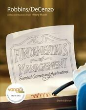 Fundamentals of Management : Essential Concepts and Applications by David A....