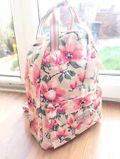 Cath Kidston Beige Pink Flowers Backpack Shoulder Bag Handbag Rucksack Gift