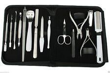 15 a 1 Alta Qualità Kit Manicure, Pedicure Set Acciaio Inox Con Astuccio