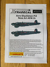 Xtradecal Avro Shackleton Pt.3 Nose Art AEW2s X72272 Excl WR965 'Rosalie' 1/72nd