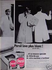 PUBLICITÉ 1967 LESSIVE PERSIL LAVE PLUS BLANC ÇA SE VOIT - ADVERTISING