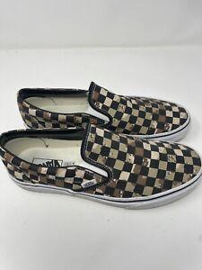 Vans classic Slip-on Checker Desert Army Print Shoes men's us Size 10