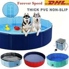 Foldable Pet Dog Swimming Pool Bath Tub Cat Dog Puppy Kids Shower Portable S/M/L