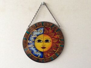 Glass Sun/ Moon Eclipse Sun Catcher (25)